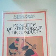 Libros: PRINCIPIOS DE APRENDIZAJE Y DE CONDUCTA. Lote 227742945