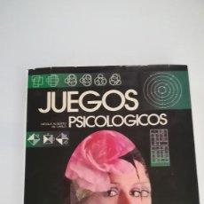 Libros: LIBRO SOBRE JUEGOS PSICOLOGICOS. Lote 227747076