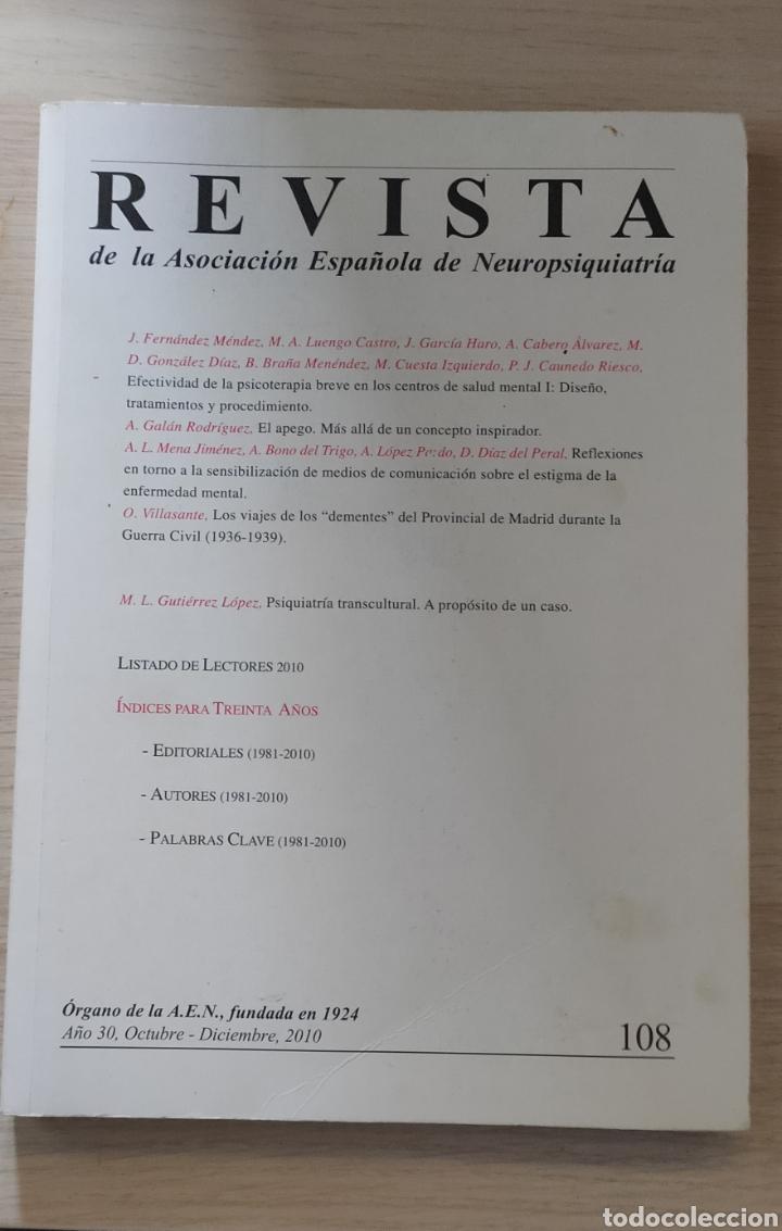 REVISTA - ASOCIACION ESPAÑOLA DE NEUROPSIQUIATRÍA - 108 (Libros Nuevos - Ciencias, Manuales y Oficios - Psicología y Psiquiatría )