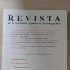 Libros: REVISTA - ASOCIACION ESPAÑOLA DE NEUROPSIQUIATRÍA - 108. Lote 242382420