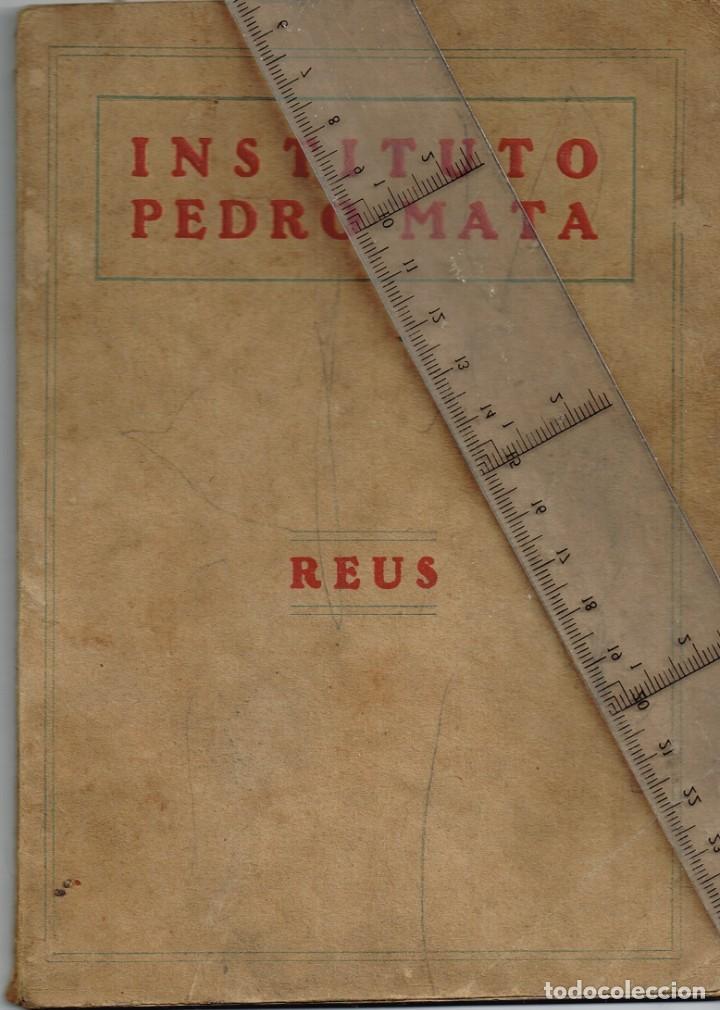 """1928 1929 INSTITUTO PEDRO MATA (REUS - TARRAGONA) """"PERE MATA"""" LIBRO DE PRESENTACIÓN (Libros Nuevos - Ciencias, Manuales y Oficios - Psicología y Psiquiatría )"""
