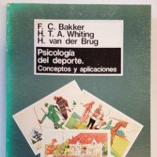 Libros: PSICOLOGÍA DEL DEPORTE. CONCEPTOS Y APLICACIONES, FRANK C. BAKKER; H. T. A. WHITING; H. VAN DER BRUG. Lote 251082375