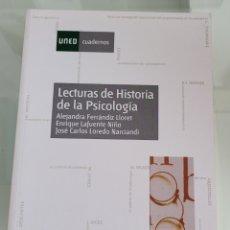 Libros: LECTURAS DE HISTORIA DE LA PSICOLOGÍA. ALEJANDRA FERNÁNDIZ.. Lote 257388645