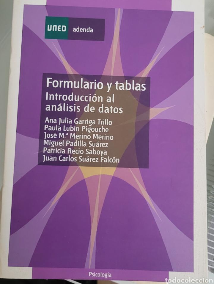 FORMULARIO Y TABLAS. INTRODUCCIÓN AL ANÁLISIS DE DATOS UNED (Libros Nuevos - Ciencias, Manuales y Oficios - Psicología y Psiquiatría )
