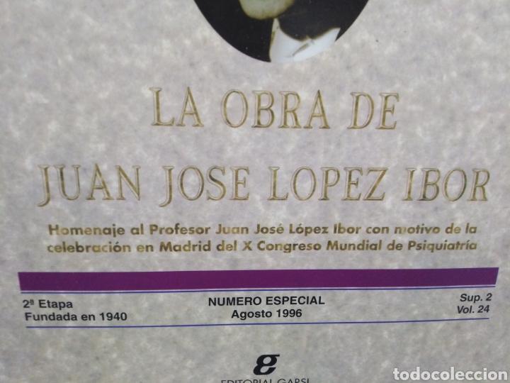 Libros: ACTAS LUSO/ESPAÑOLAS DE NEUROLOGÍA,PSIQUIATRA Y CIENCIAS AFINES-LA OBRA DE JUAN JOSÉ LÓPEZ IBOR- - Foto 2 - 259762345