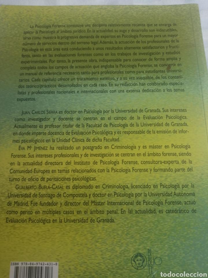 Libros: PSICOLOGIA FORENSE: MANUAL DE TÉCNICAS Y APLICACIONES - Foto 2 - 261965785