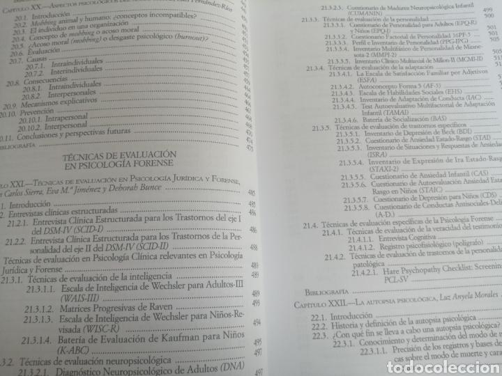 Libros: PSICOLOGIA FORENSE: MANUAL DE TÉCNICAS Y APLICACIONES - Foto 3 - 261965785