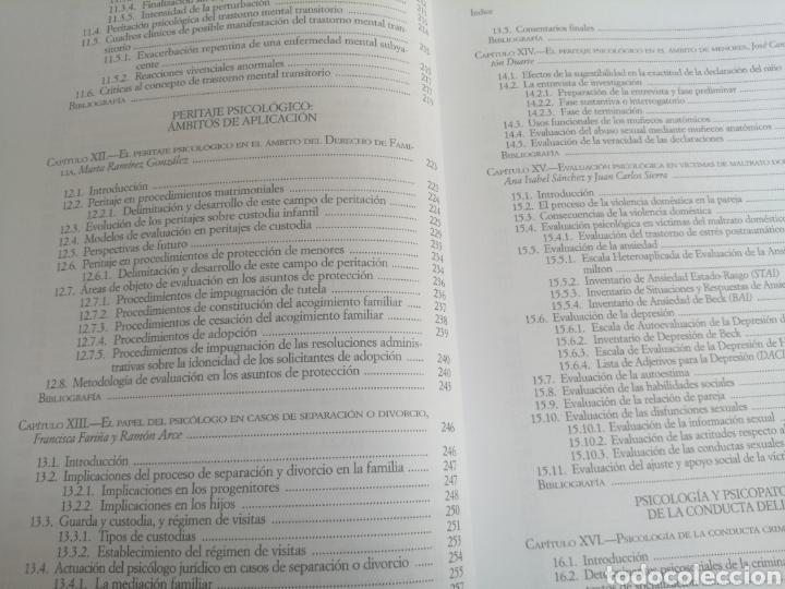 Libros: PSICOLOGIA FORENSE: MANUAL DE TÉCNICAS Y APLICACIONES - Foto 4 - 261965785