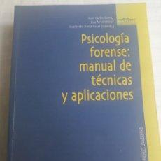 Libros: PSICOLOGIA FORENSE: MANUAL DE TÉCNICAS Y APLICACIONES. Lote 261965785