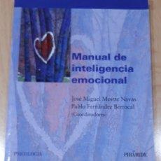Libros: MANUAL DE INTELIGENCIA EMOCIONAL. Lote 266018338