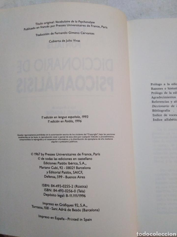 Libros: Diccionario de Psicoanálisis - Foto 4 - 277198623