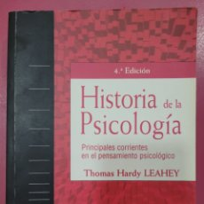 Libros: HISTORIA DE LA PSICOLOGÍA THOMAS HARDY LEAHEY. Lote 278639558