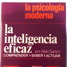 Libros: LA PSICOLOGÍA MODERNA LA INTELIGENCIA EFICAZ. Lote 280865933