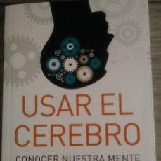 Libros: USAR EL CEREBRO FACUNDO MANES. Lote 288139078