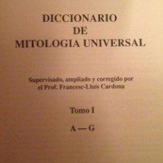 Libros: J. F. M. NOËL. DICCIONARIO DE MITOLOGÍA UNIVERSAL. 2 VOLS. BARCELONA. 1991. AL. Lote 47932928