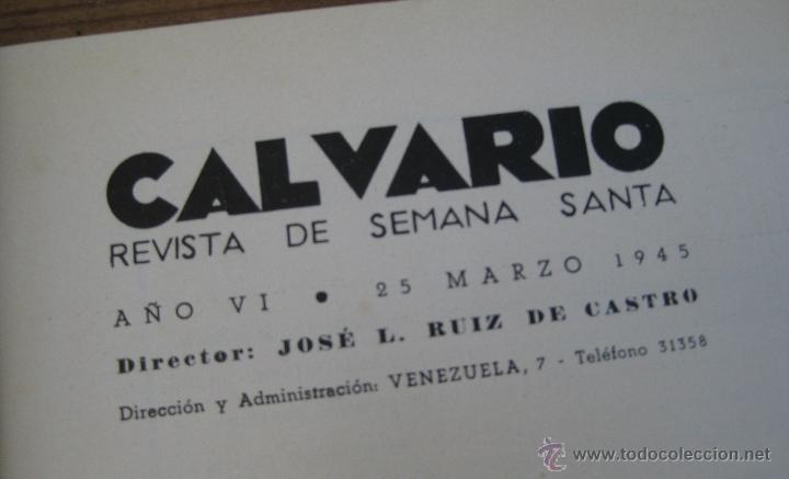 Libros: FANTASTICA REVISTA ANTIGUA SEMANA SANTA SEVILLA CALVARIO 1945 - Foto 2 - 49763183