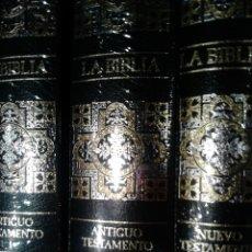 Libros: LA BIBLIA ( 3 TOMOS EDICIÓN DE LUJO COMPLETAMENTE NUEVOS ). Lote 59533917