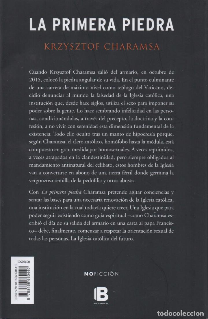 Libros: LA PRIMERA PIEDRA de KRZYSZTOF CHARAMSA - EDICIONES B, 2017 - Foto 2 - 88149836