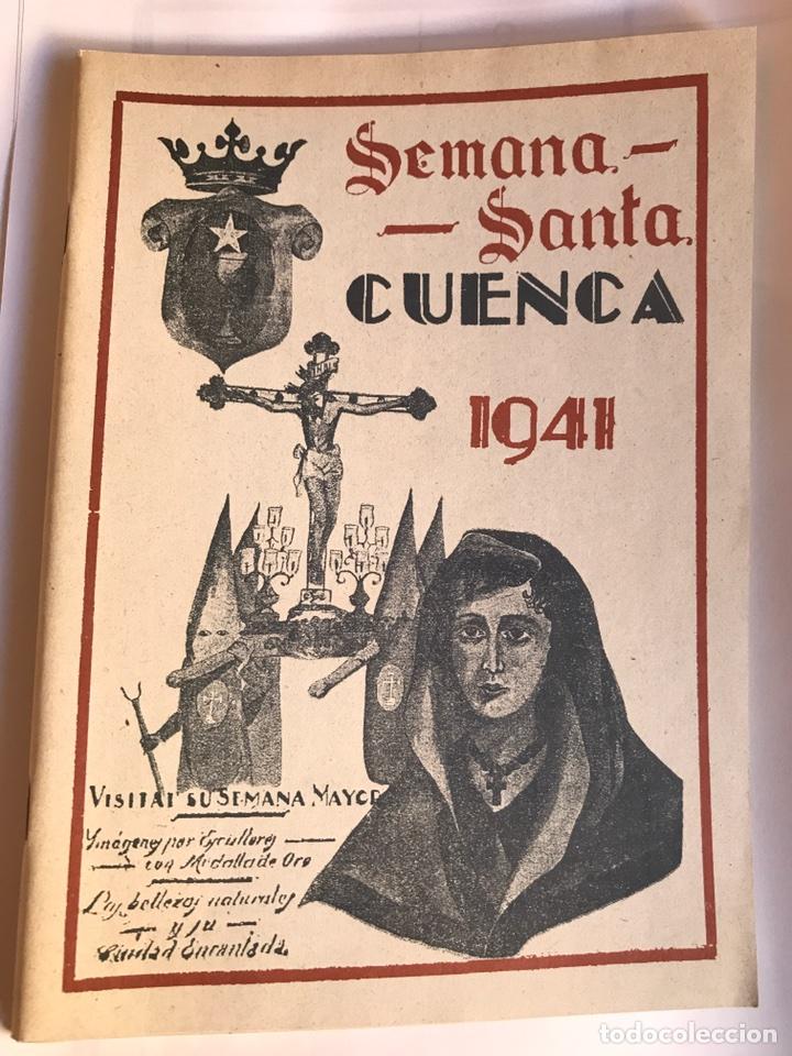 SEMANA SANTA CUENCA 1941 PROGRAMA (Libros Nuevos - Humanidades - Religión)