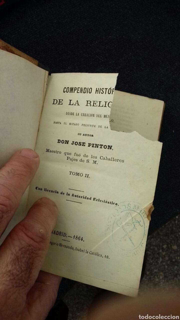 Libros: Libros de la historia de la religión. José Pintón. 1864. - Foto 3 - 114419808