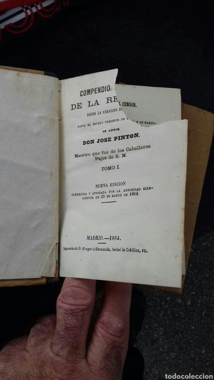 Libros: Libros de la historia de la religión. José Pintón. 1864. - Foto 4 - 114419808