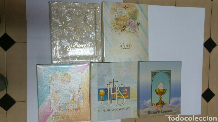 LOTE 5 LIBRO ARCHIVADOR DE COMUNIÓN COMPLETOS. RESTO DE ALMACEN AÑOS 80 (Libros Nuevos - Humanidades - Religión)