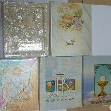 Libros: LOTE 5 LIBRO ARCHIVADOR DE COMUNIÓN COMPLETOS. RESTO DE ALMACEN AÑOS 80. Lote 114887766