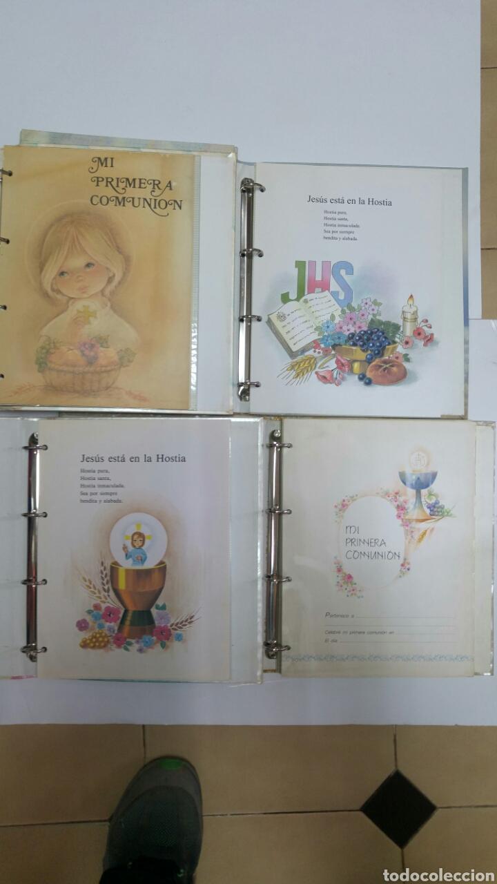 Libros: Lote 5 libro archivador de comunión completos. Resto de almacen años 80 - Foto 4 - 114887766