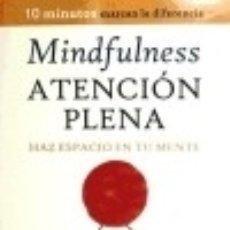 Libros: MINDFULNESS. ATENCIÓN PLENA. EDAF. Lote 70834471