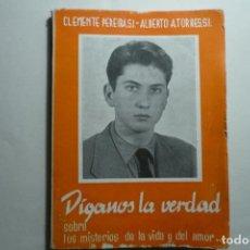 Libros: LIBRO DIGANOS LA VERDAD-MISTERIOS DE LA VIDA.-CLEMENTE PEREIRA SJ-2 EDICION 114 PAG.. Lote 129565755