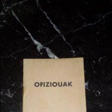 Libros: EUSKERA. DIALECTO SULETINO. DEVOCIONARIO.. Lote 130593926