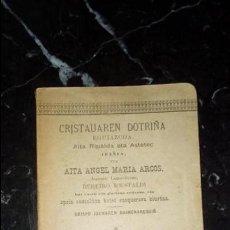 Libros: DOCTRINA VASCA. EUSKERA.. Lote 130595274
