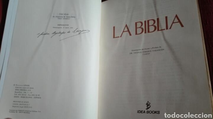 Libros: BIBLIA GINER 1970 edicion lujo canto dorado NUEVA 1600 pag 93 ilustraciones color MUSEO PRADO - Foto 4 - 135831117