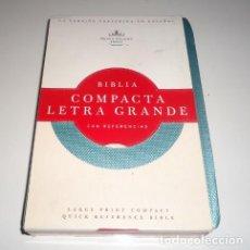 Libros: RVR 1960 BIBLIA COMPACTA LETRA GRANDE, TURQUESA IMITACIÓN PIEL POR B&H ESPAÑOL EDITORIAL STAFF . Lote 143827650