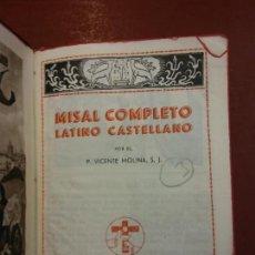 Libros: BJS.VICENTE MOLINA.MISAL COMPLETO LATINO CASTELLANO.EDT, HISPANIA.BRUMART TU LIBRERIA.. Lote 150962378