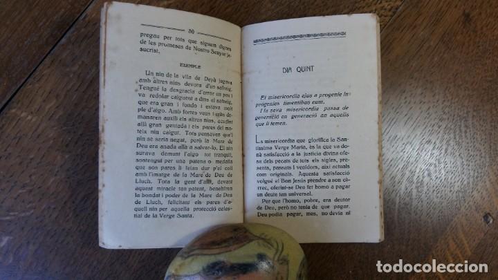 Libros: Novena a honra de la Mare de Deu de Lluch.Composta del P. Miquel Roselló. Mallorca, 1916 - Foto 3 - 153382058