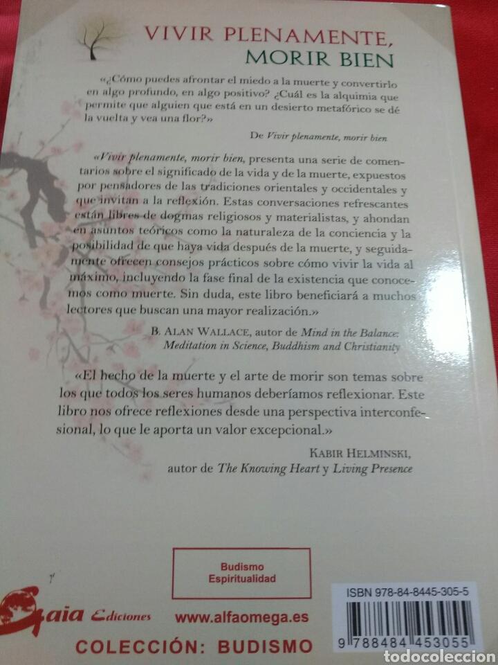Libros: VIVIR PLENAMENTE MORIR BIEN. - Foto 2 - 160098366