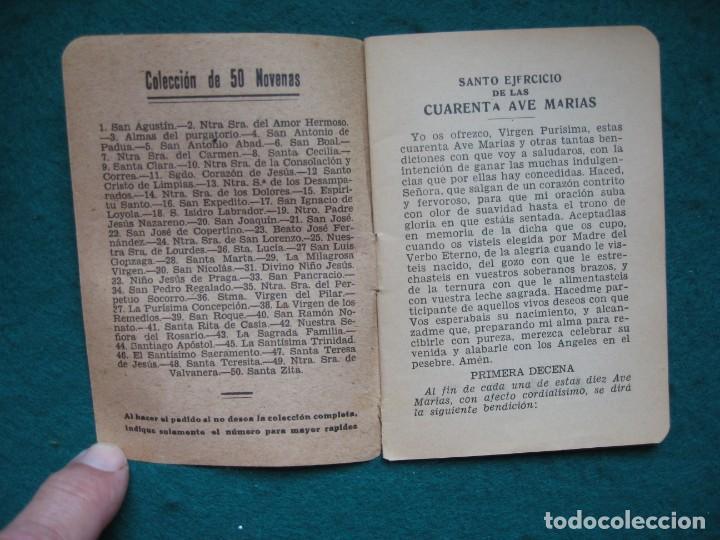 Libros: CUARENTA AVE MARIAS, JORNADAS DE LA SANTÍSIMA VIRGEN - Foto 2 - 161142526