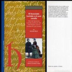Libros: GAVIN, ANTONIO. EL LICENCIADO LUCINDO O EL CURA CANALLA. VIDA DEL LICENCIADO LUCINDO ESCRITA... 2011. Lote 168444476