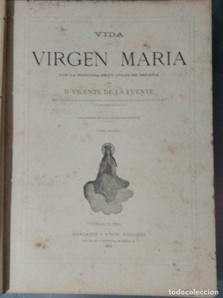 Libros: VIDA DE LA VIRGEN MARIA - En dos tomos que miden 36 x 28 cm - Foto 7 - 168631328