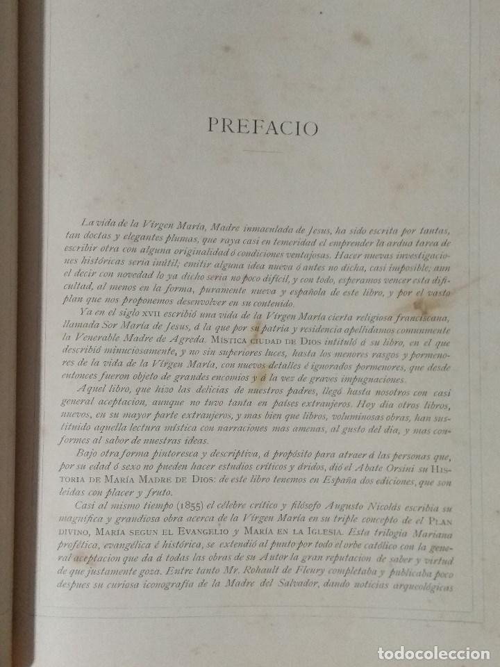 Libros: VIDA DE LA VIRGEN MARIA - En dos tomos que miden 36 x 28 cm - Foto 8 - 168631328