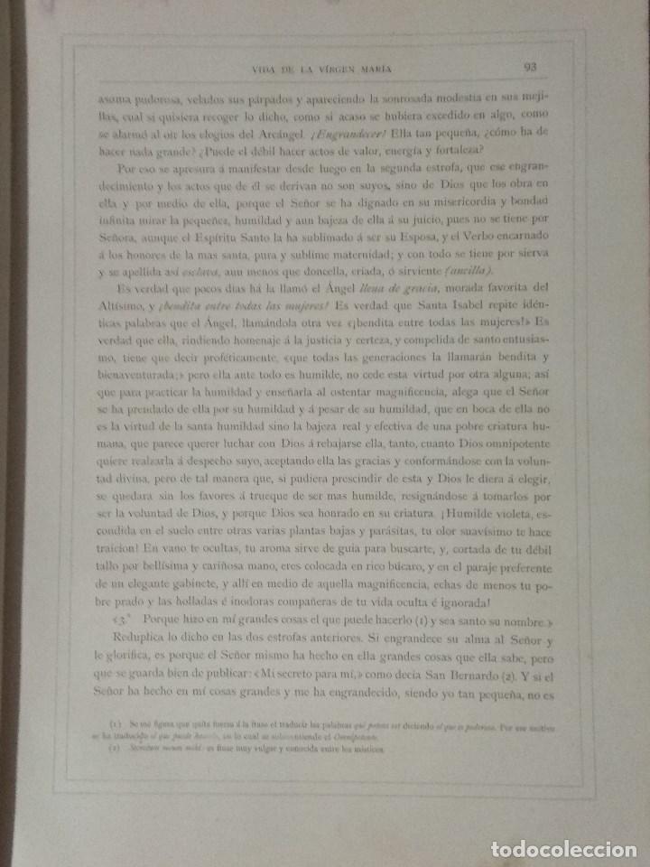 Libros: VIDA DE LA VIRGEN MARIA - En dos tomos que miden 36 x 28 cm - Foto 11 - 168631328