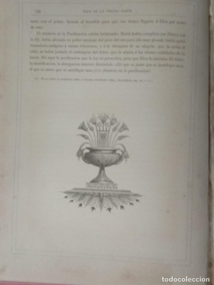 Libros: VIDA DE LA VIRGEN MARIA - En dos tomos que miden 36 x 28 cm - Foto 13 - 168631328