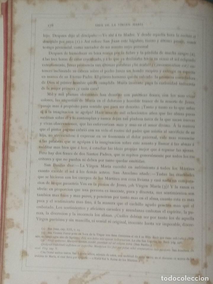 Libros: VIDA DE LA VIRGEN MARIA - En dos tomos que miden 36 x 28 cm - Foto 14 - 168631328