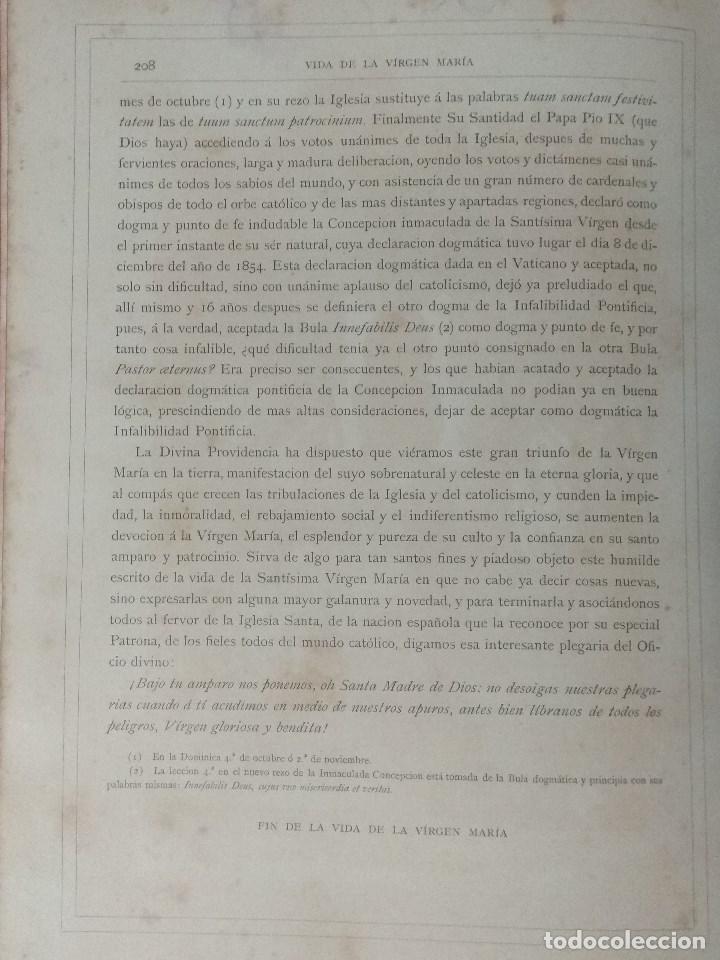 Libros: VIDA DE LA VIRGEN MARIA - En dos tomos que miden 36 x 28 cm - Foto 16 - 168631328