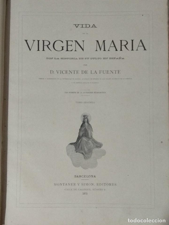 Libros: VIDA DE LA VIRGEN MARIA - En dos tomos que miden 36 x 28 cm - Foto 21 - 168631328