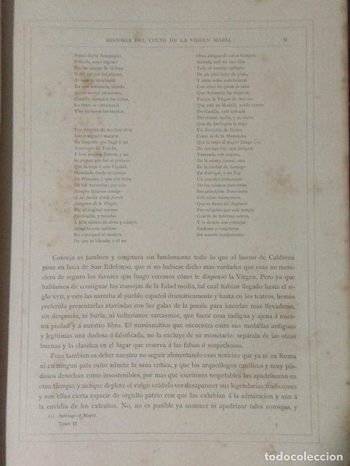 Libros: VIDA DE LA VIRGEN MARIA - En dos tomos que miden 36 x 28 cm - Foto 23 - 168631328