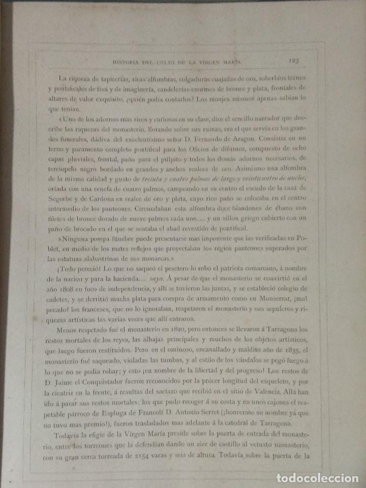 Libros: VIDA DE LA VIRGEN MARIA - En dos tomos que miden 36 x 28 cm - Foto 26 - 168631328