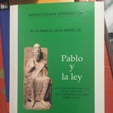 Libros: PABLO Y LA LEY JUAN MIGUEL DÍAZ-RADELAS. Lote 169815266