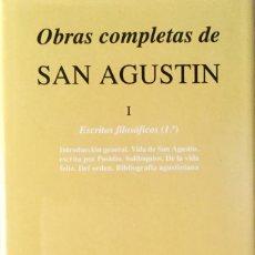 Libros: OBRAS COMPLETAS DE SAN AGUSTÍN I. NUEVO REF: 169. Lote 171586793